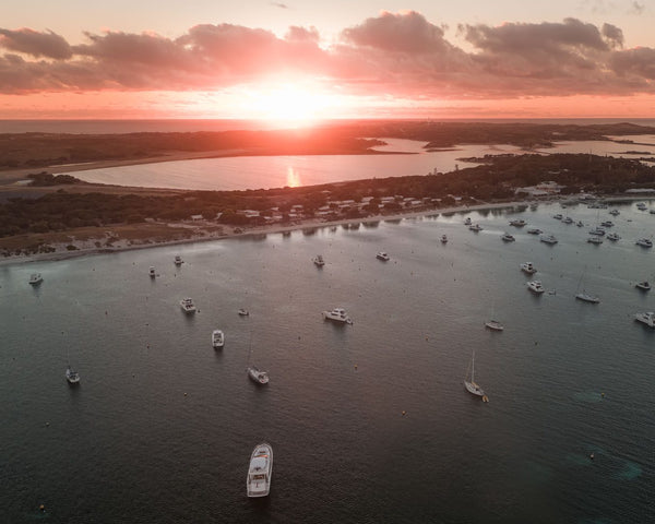 Sunset lights over Rottnest Island