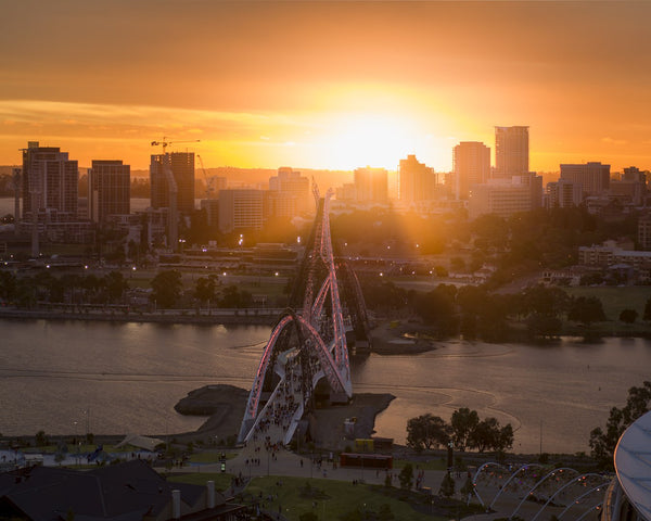 Sunset at Matagarup Bridge