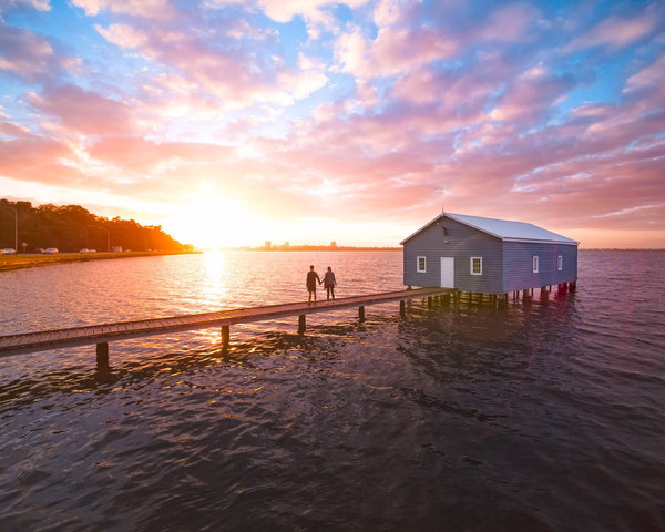 Magical sunrise at Blue Boat House