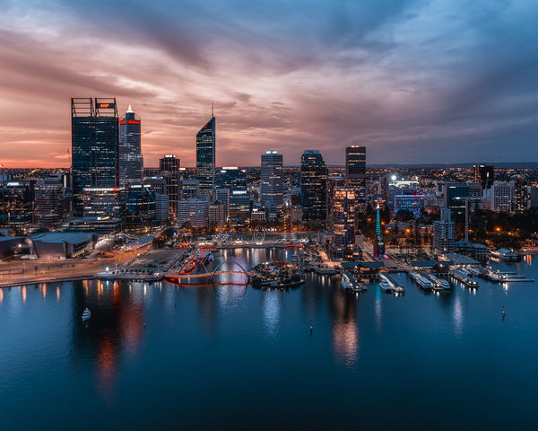 Beautiful night lights of Perth
