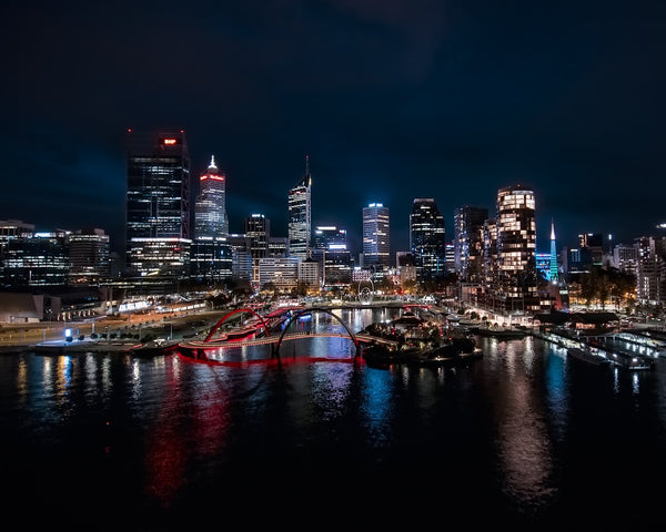 Night colours of Perth