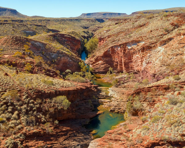 Aerial view of Hamersley Gorge, Karijini