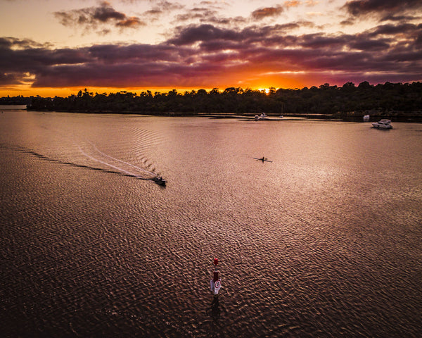 ROWING TRAINING AT SWAN RIVER