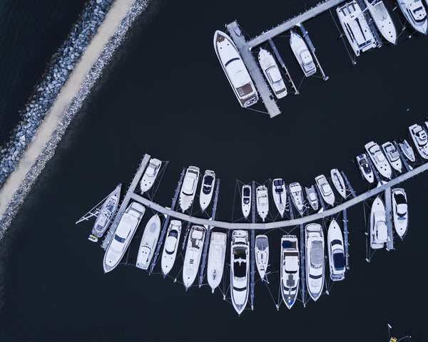 BOATS FROM BIRDS EYE