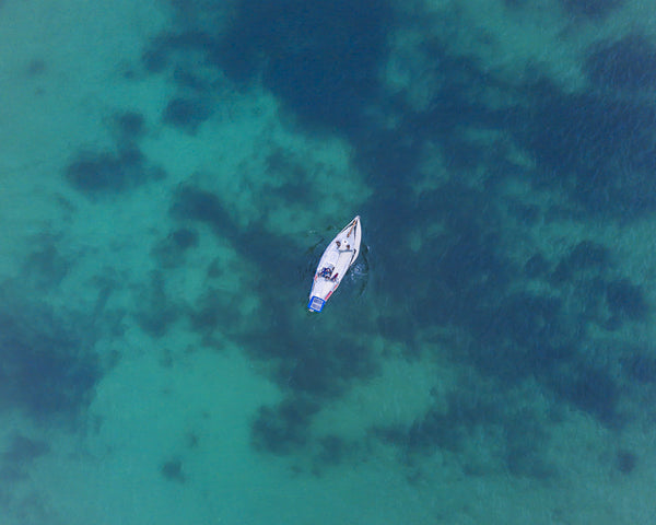 SAILING BOAT FROM ABOVE