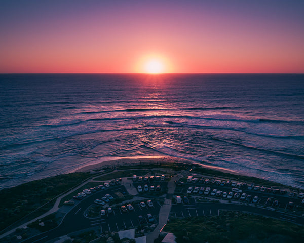 SUNSET AT SURFERS POINT
