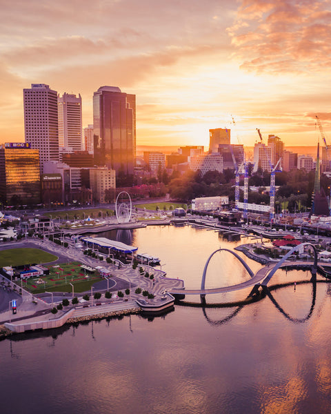 Stunning Sunrise at Elizabeth Quay