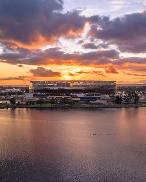 New Perth Stadium - First lights of the day