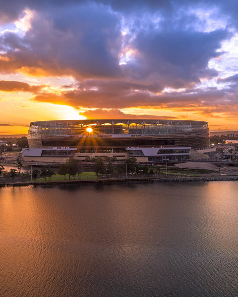 Optus Stadium - Sun rays through the architecture