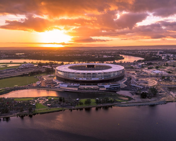 New Perth Stadium - From above