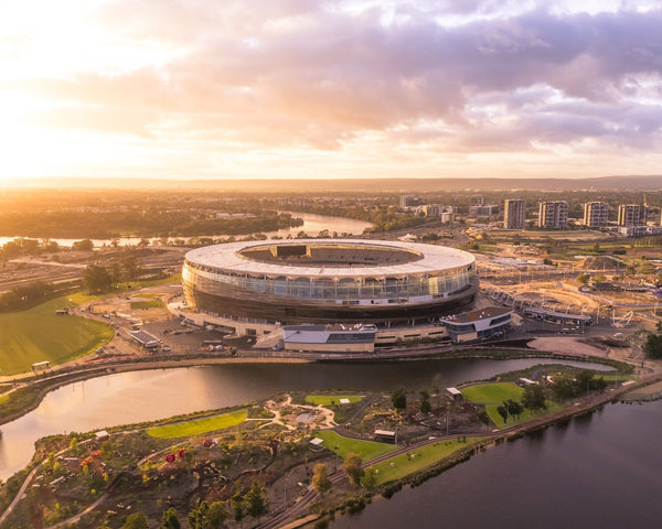 New Perth Stadium - Sun Lights Over It