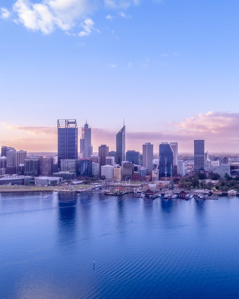 Blue tones of Perth City