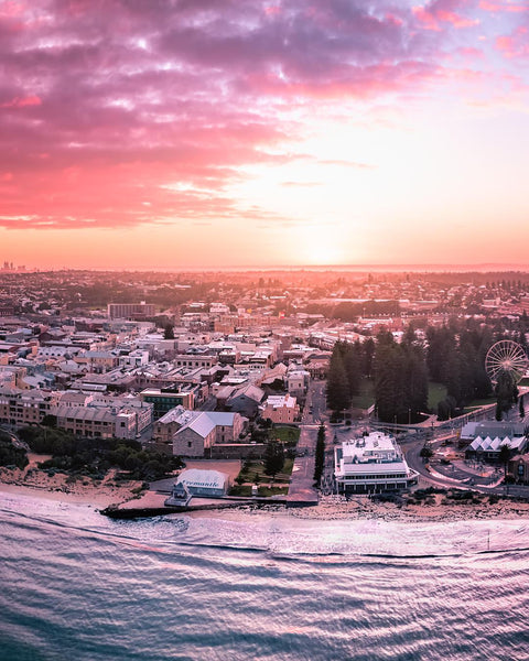 Sunrise colours over beautiful Fremantle