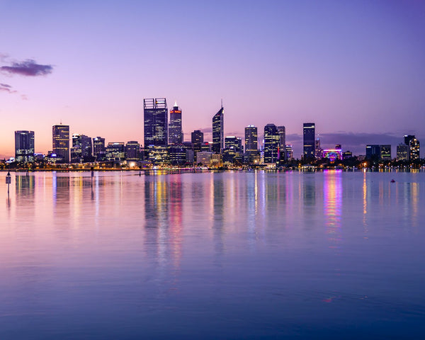 The lights of Perth City