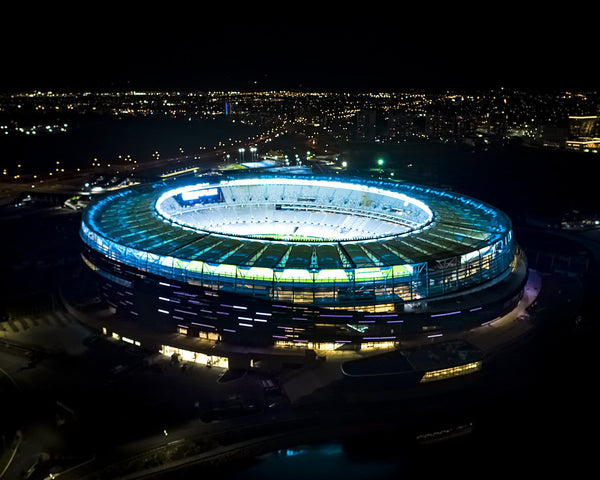 New Perth Stadium at Night