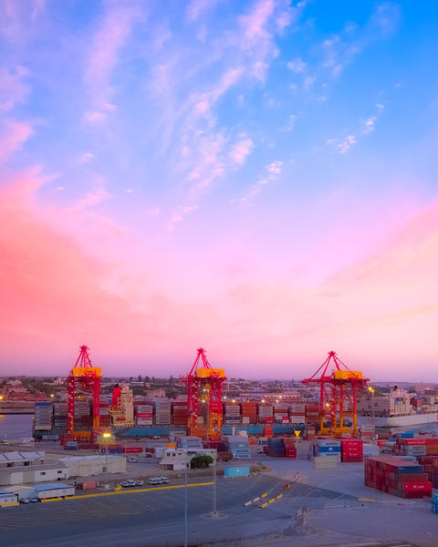 Cotton Candy Sky over Port of Fremantle