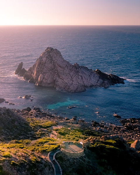 Sunset rays at Sugar Loaf Rock