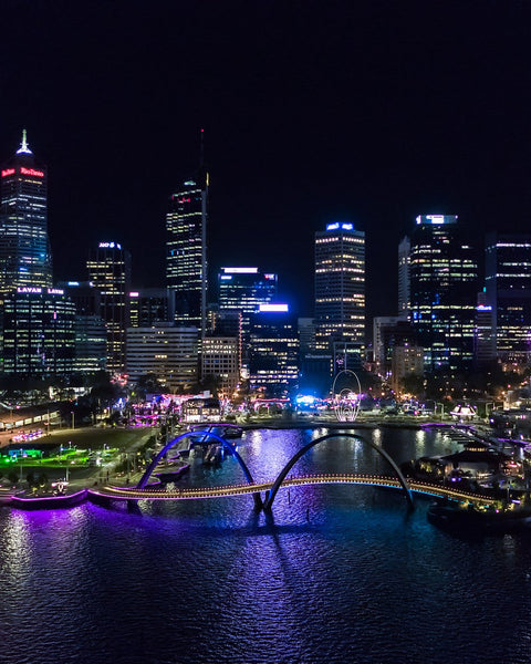 Night colours of City of Perth