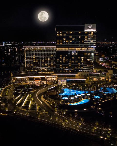 Crown Perth at night