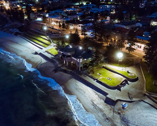 Cottesloe Beach at night