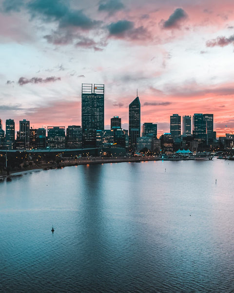 Perth City waking up