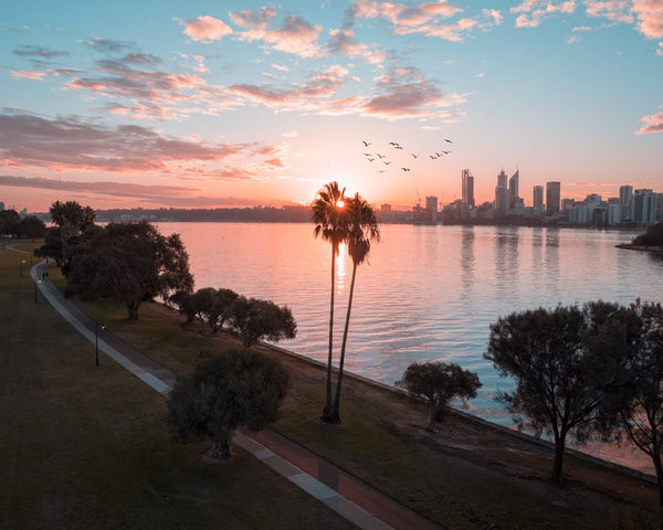 Last lights at South Perth