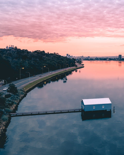 Sunrise at Blue Boat House