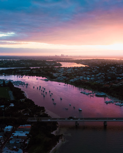 Sunrise over Swan River Fremantle