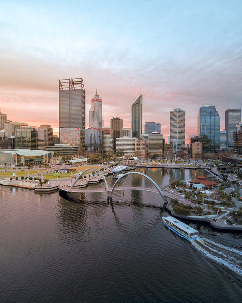 Perth City on Sunset