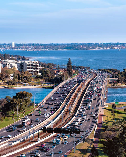 The busy City of Perth