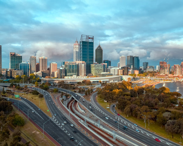 Perth City at Sunset