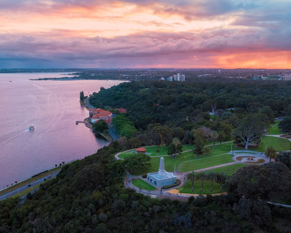 Sunset over Kings Park