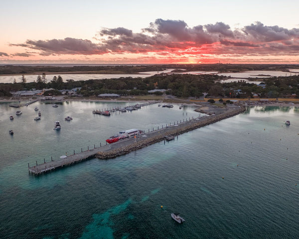 Thomson Bay in Rottnest Island at Sunset