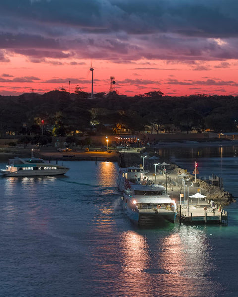 Last nights over the Rottnest Island Ferry Jetty
