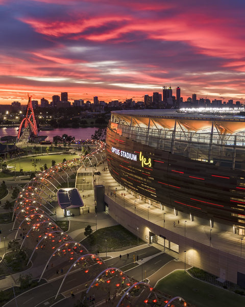 Magical Sunset over Optus Stadium