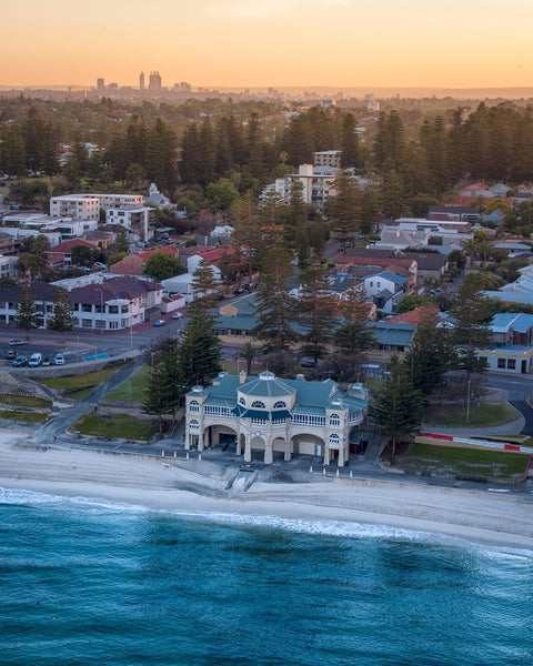 First lights over Cottesloe Beach