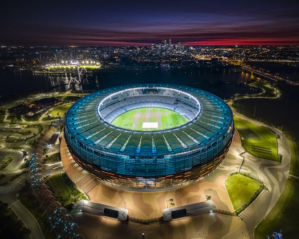 Optus Stadium and Perth City