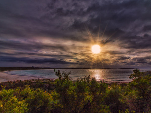 CLOUDY SUNRISE AT BREMER BAY