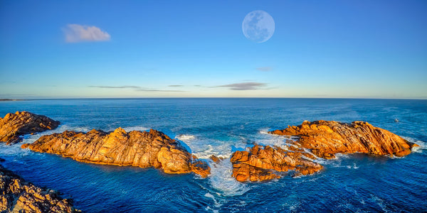 CANAL ROCKS AND THE MOON