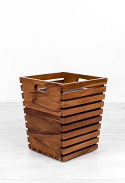 Teak Waste Bin - Paradiddle Furniture & Stuff