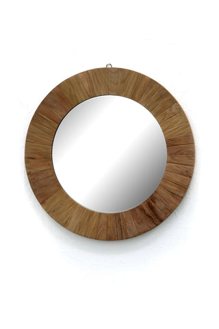 Teak Round Mirror - Paradiddle Lifestyle