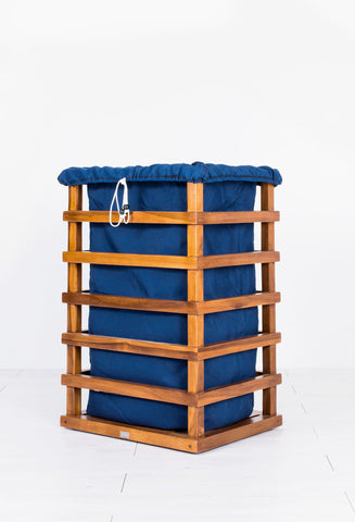 Laundry Basket - Teak Laundry Basket