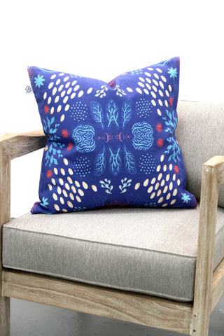 Frankie Cihi Blue Coral Pillow - Paradiddle Lifestyle