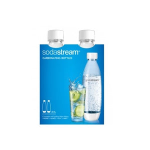 Sodastream 1L Carbonating Bottles White Edition Set Of 2 In Package