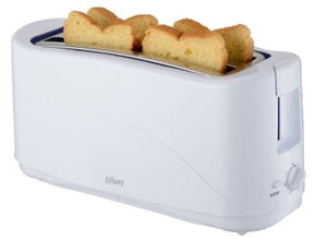 Tiffany 4 Slice White Toaster w/ 7 Toast Settings/ Cool Touch Exterior- TTW4