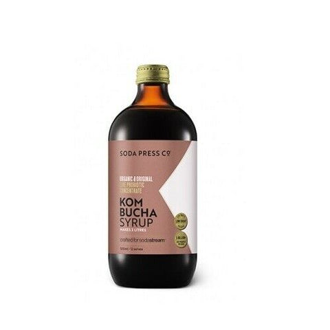 SodaStream Organic 500ml Soda Syrup Kombucha Probiotic Soda Press Mix- Low Sugar - Sydney Electronics