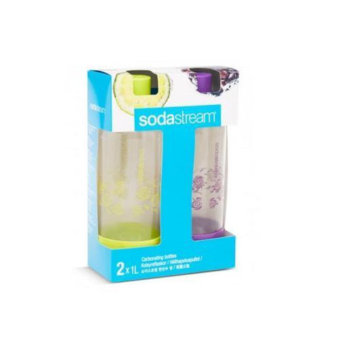 Sodastream 1L Carbonating Bottles Summer Edition Set Of 2 In Package