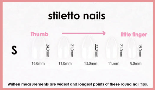 fale nails size guide