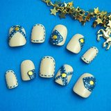 Denim Stich Nail *Beige*