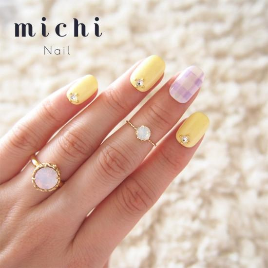 Pastel x One Color Nail